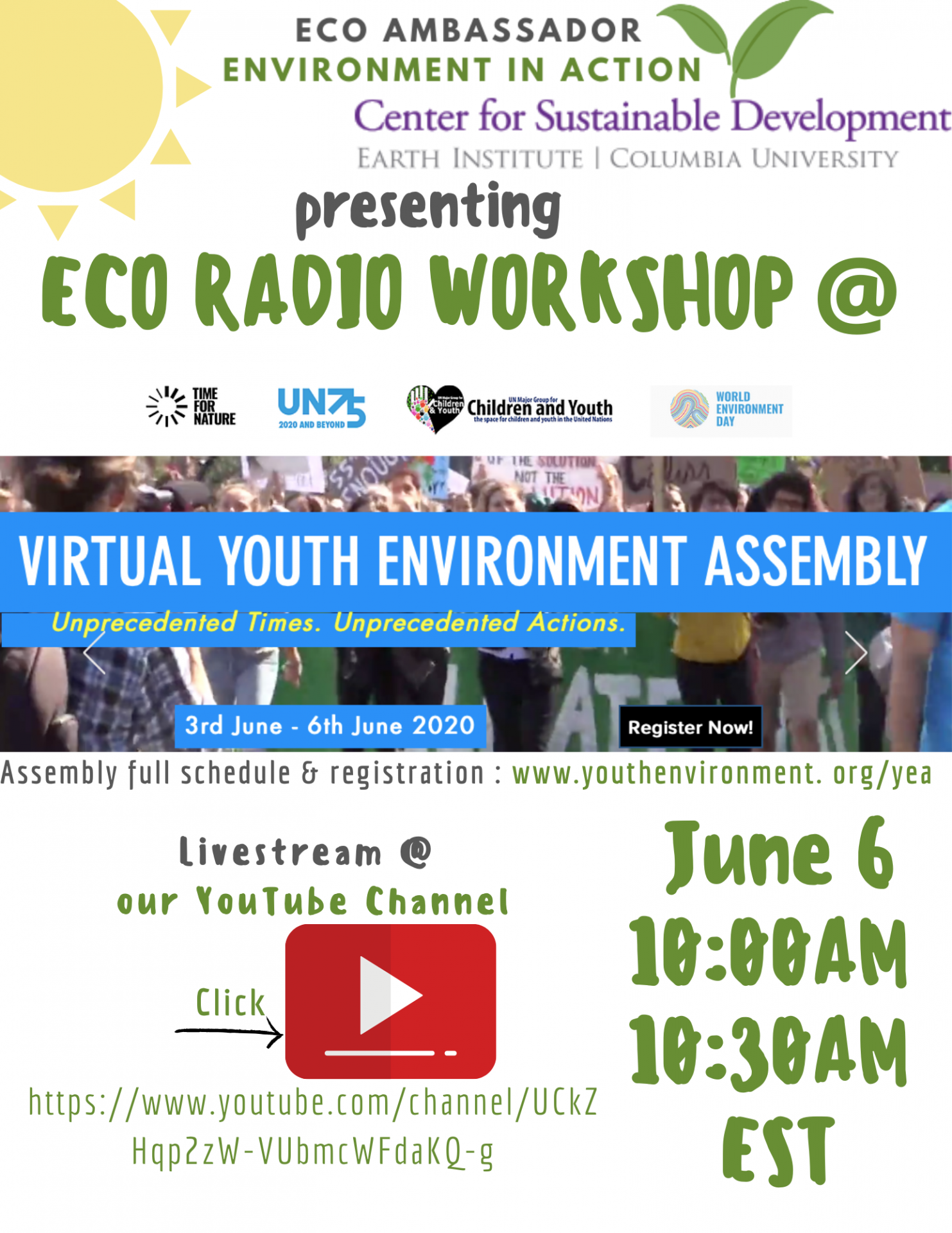 Eco-ambassador presents Eco-Radio Workshop