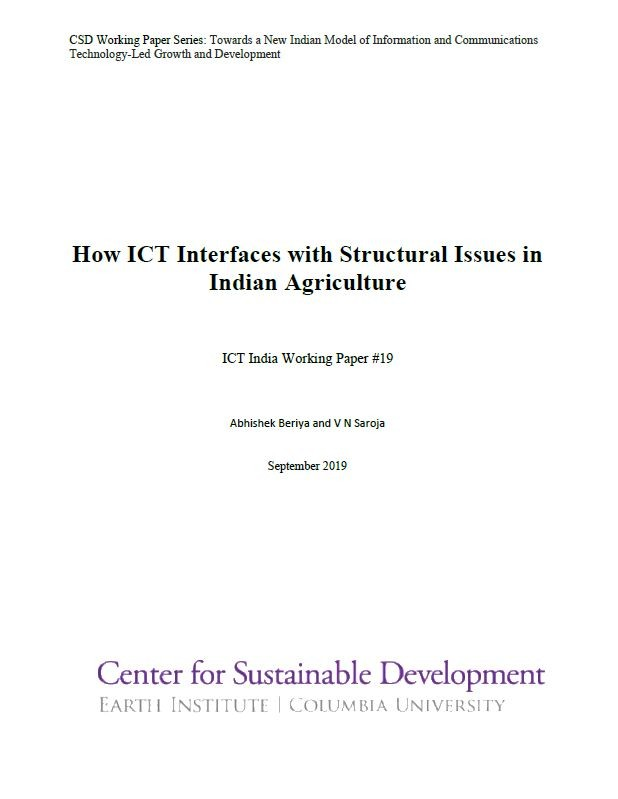 How ICT Interfaces with Structural Issues in Indian Agriculture