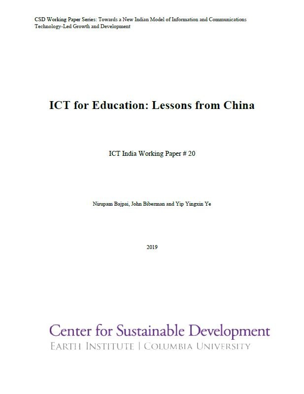 ICT for Education: Lessons from China