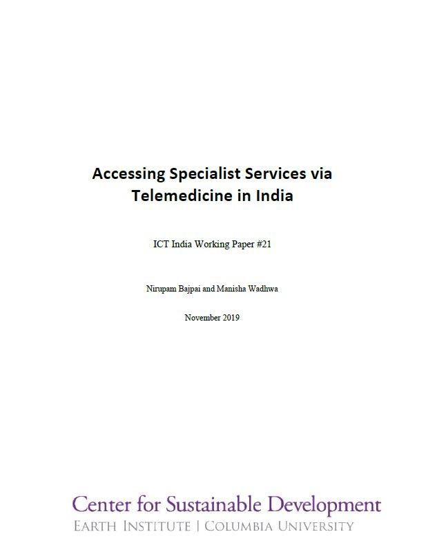 Accessing Specialist Services via Telemedicine in India