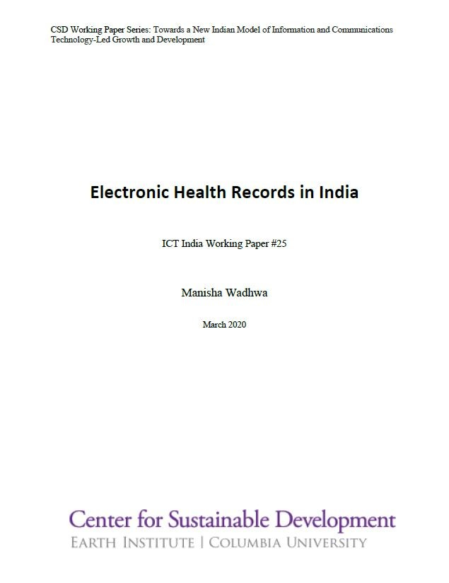 Electronic Health Records in India