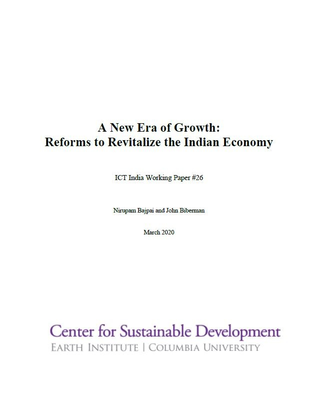A New Era of Growth: Reforms to Revitalize the Indian Economy