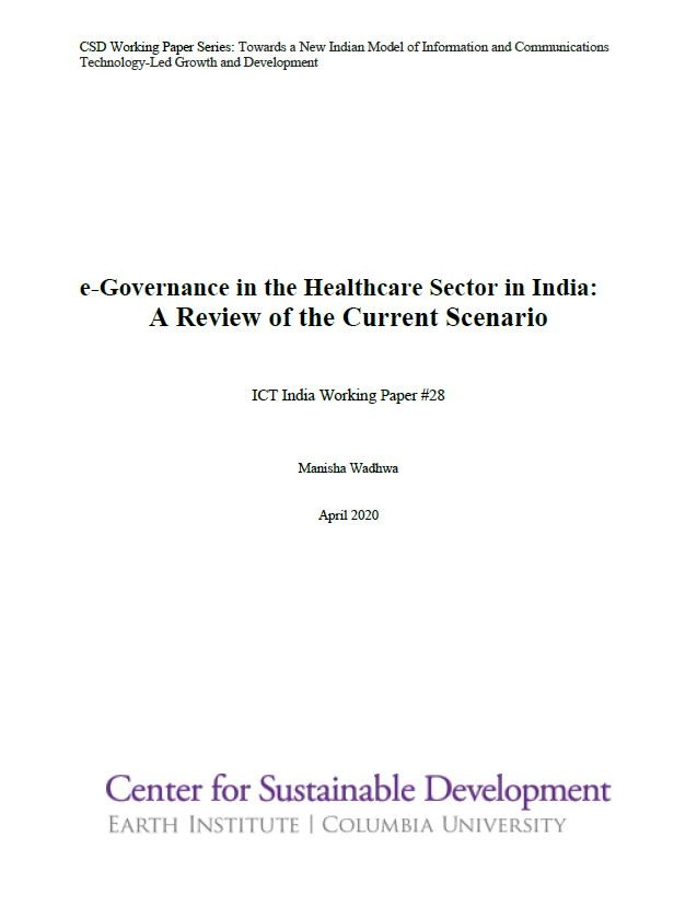 E-Governance in the Health Sector in India: A Review of the Current Scenario