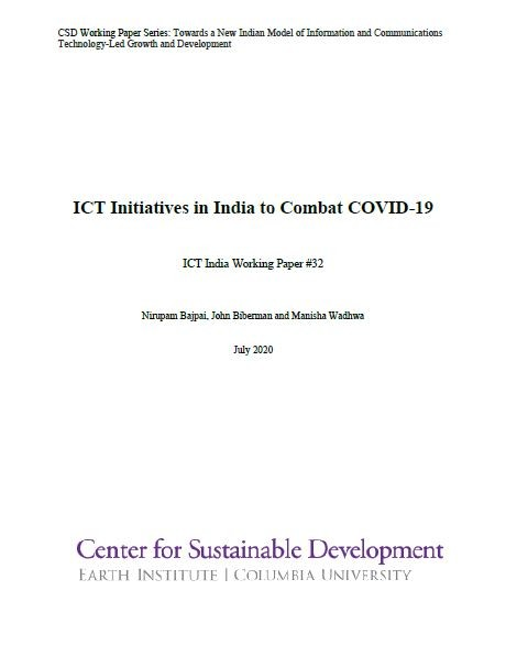 ICT Initiatives in India to Combat COVID-19