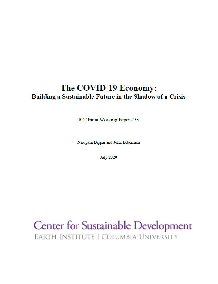The COVID-19 Economy: Building a Sustainable Future in the Shadow of a Crisis
