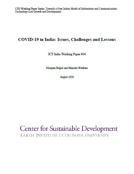 COVID-19 in India: Issues, Challenges and Lessons
