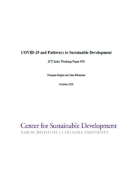 COVID-19 and Pathways to Sustainable Development