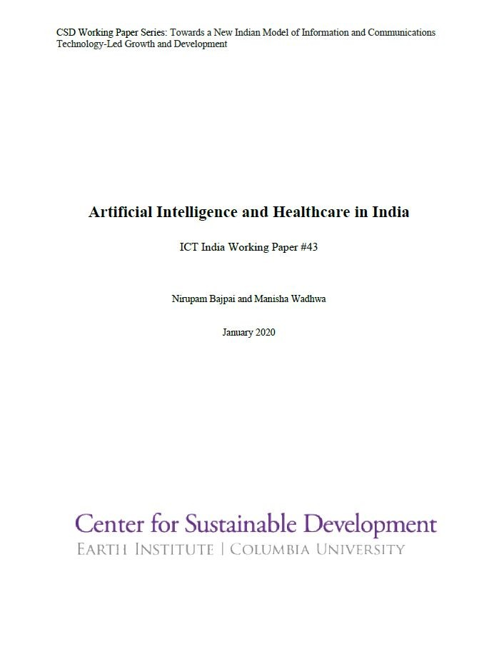 Artificial Intelligence and Healthcare in India