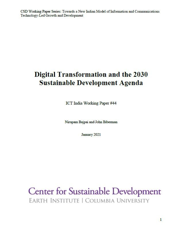 Digital Transformation and the 2030 Sustainable Development Agenda