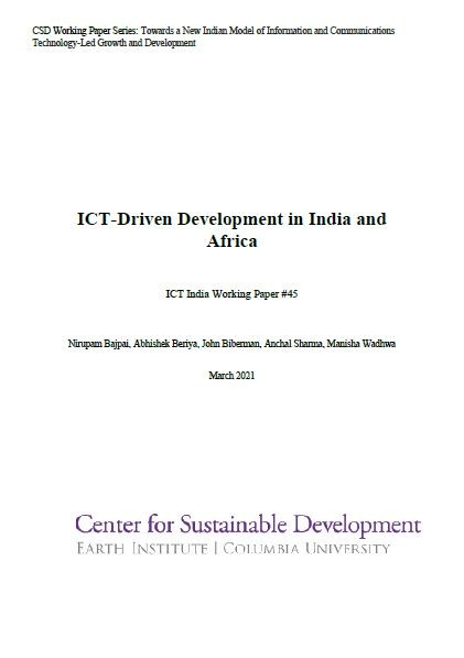 ICT-Driven Development in India and Africa