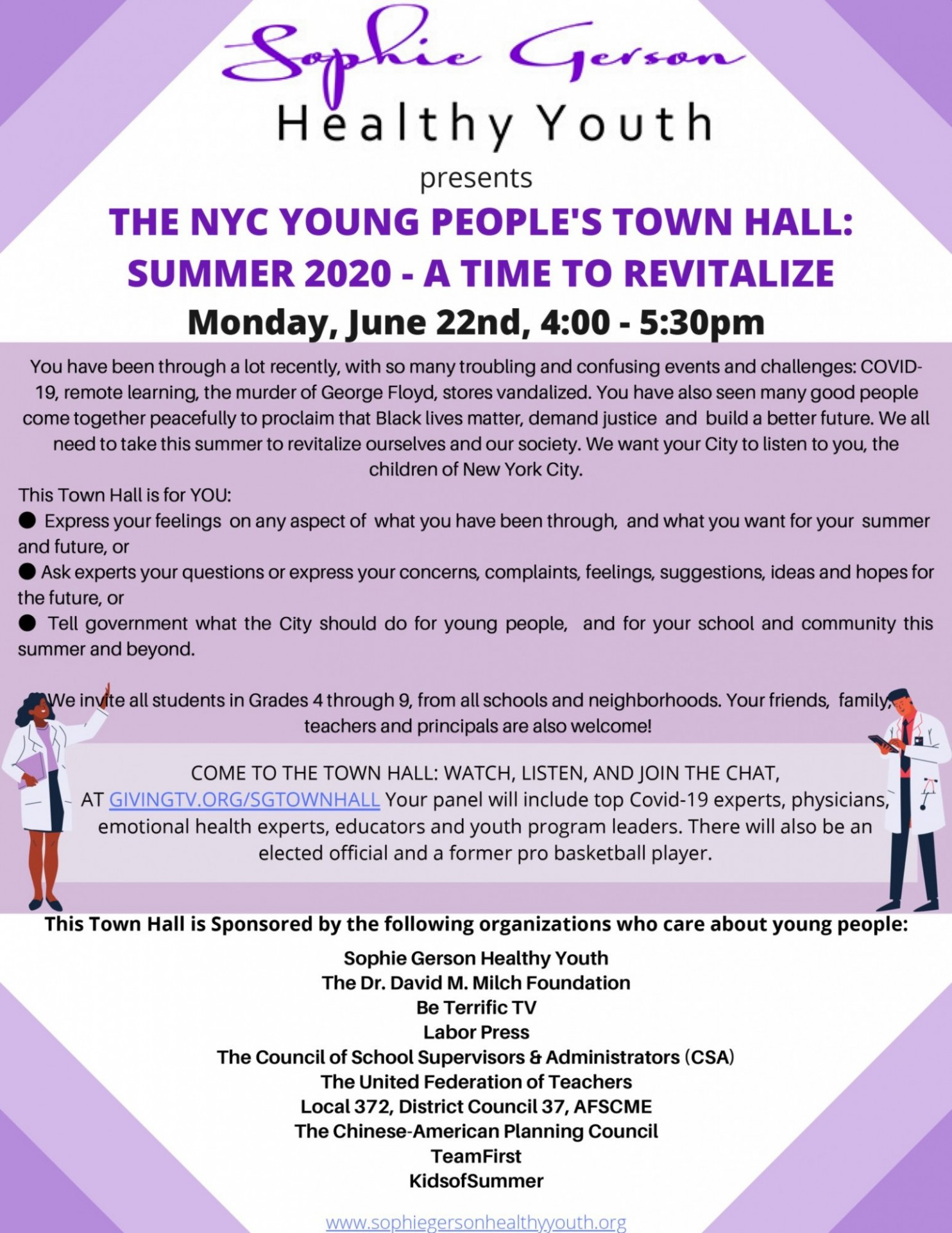 Sophie Gerson Young People's Town Hall